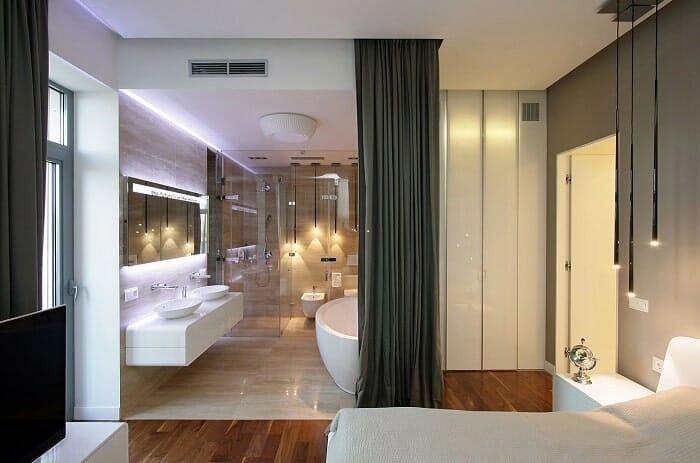 Có nên xây nhà vệ sinh trong phòng ngủ