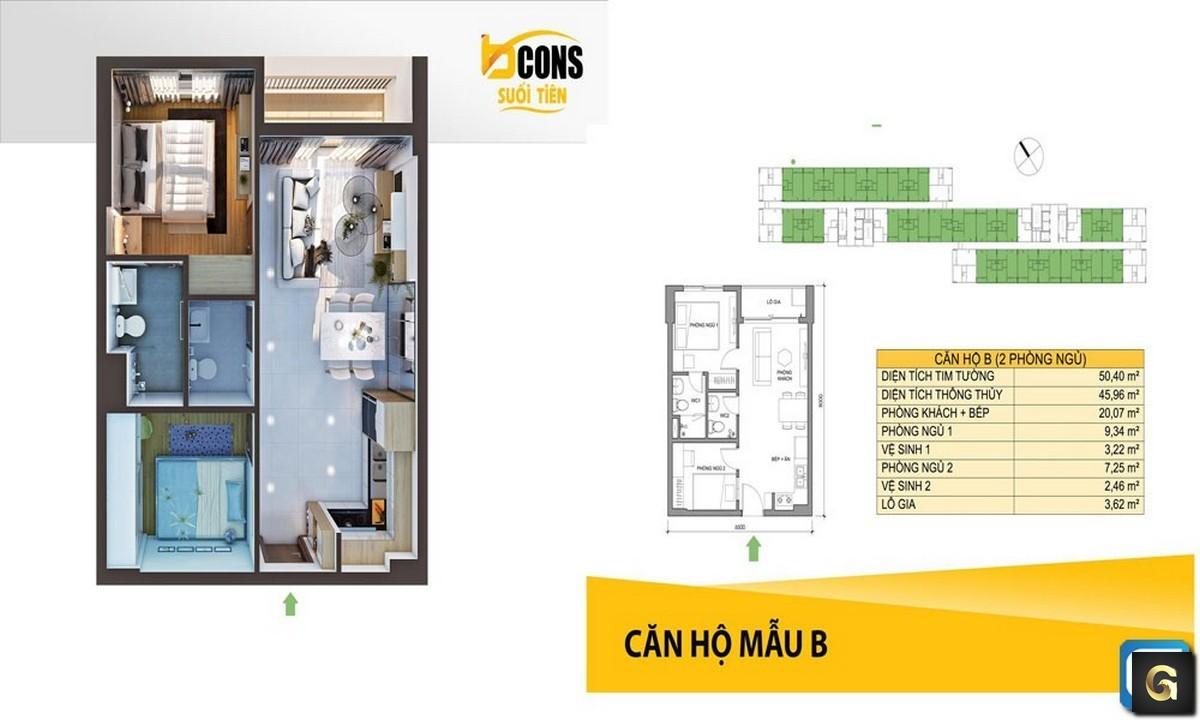 dự án căn hộ Bcons Suối Tiên Dĩ An Bình Dương