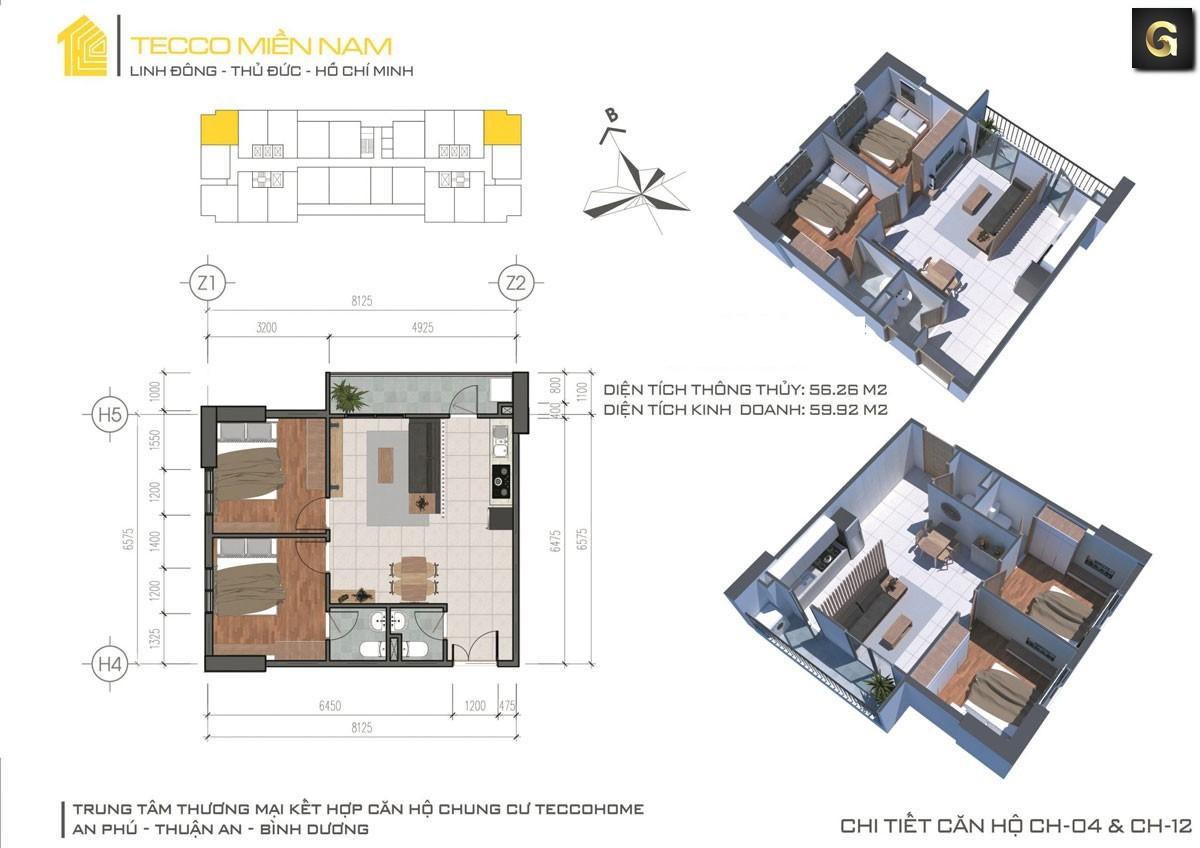 dự án căn hộ Tecco Home An Phú Bình Dương