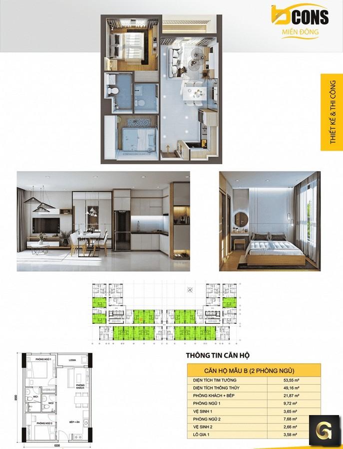 Dự án căn hộ Bcons Miền Đông Dĩ An Bình Dương