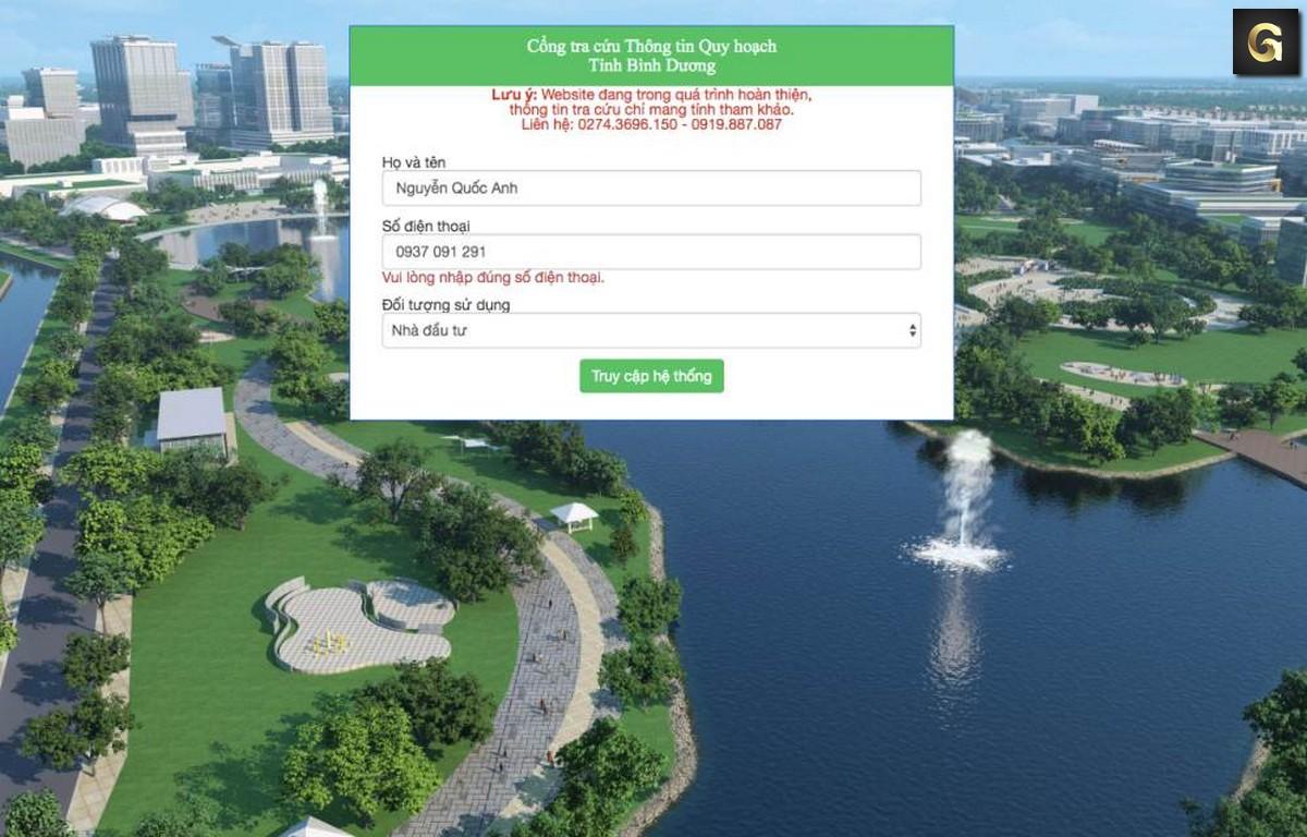 Hướng dẫn tra cứu thông tin quy hoạch Bình Dương năm 2020