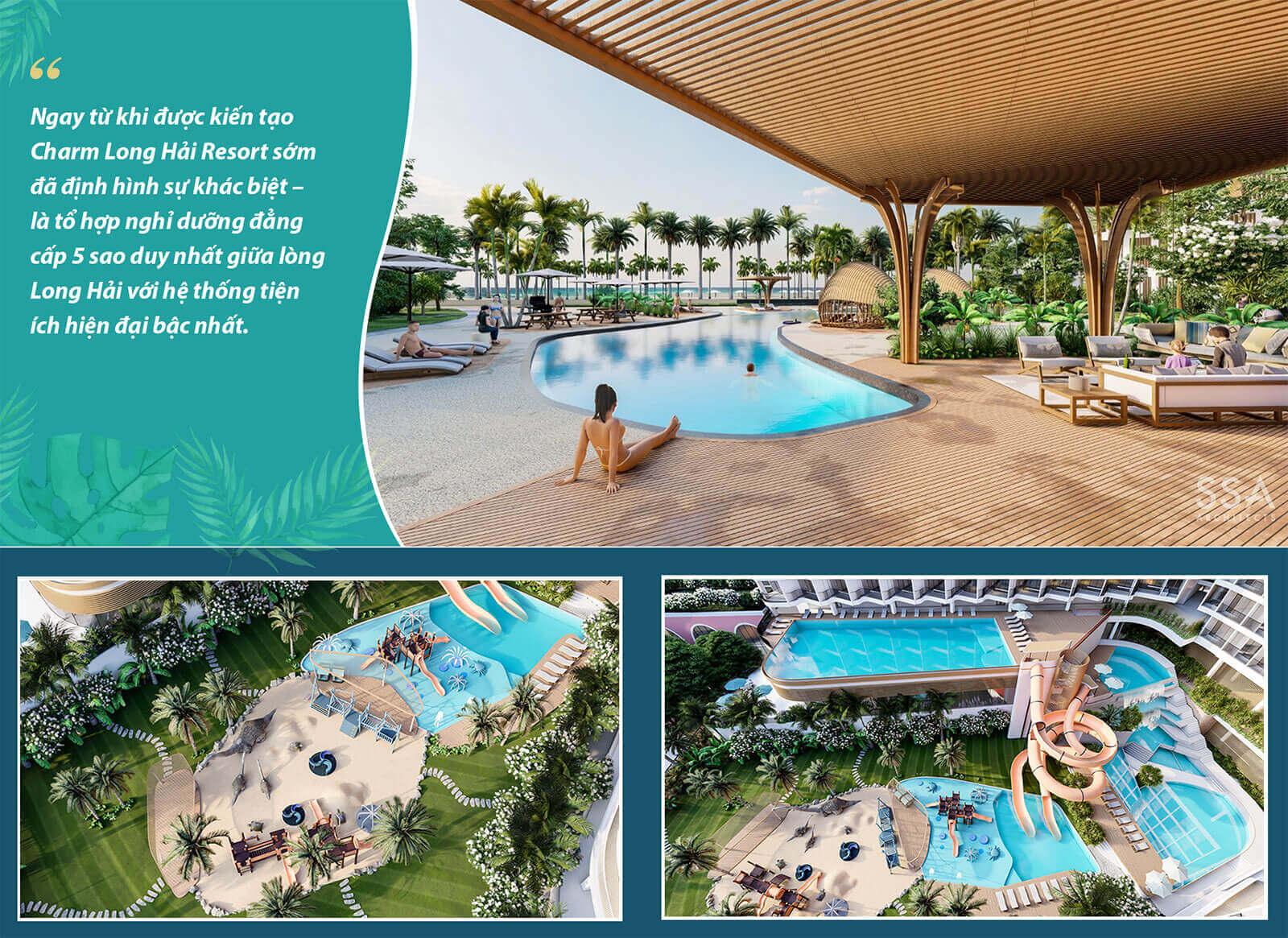 Charm Resort Long Hải Biệt thự cao cấp hạ tầng hòan thiện thiết kế thoáng
